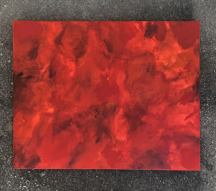 aries fire abstract painting