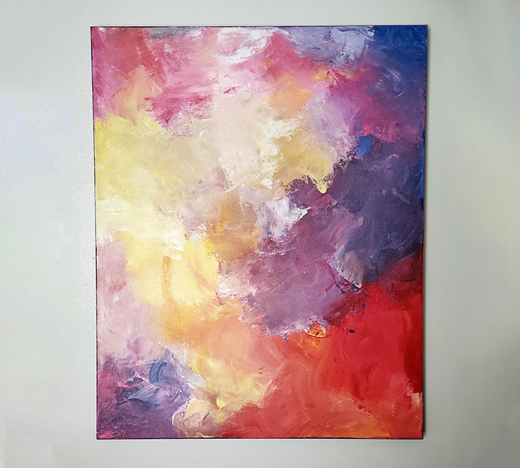 cancer abstract painting
