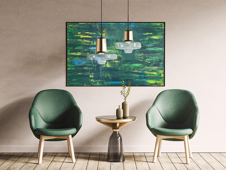 gemini abstract wall art painting