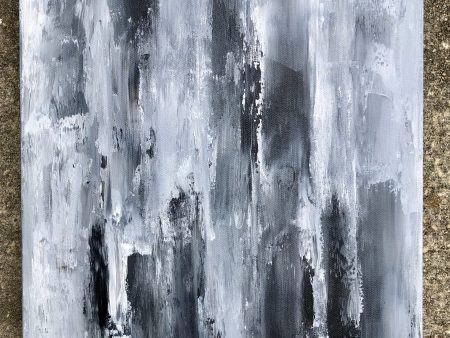 black, grey and white abstract art